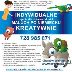 NIEMIECKI dla dzieci, zajęcia indywidualne, zajęcia prywatne dla dzieci Chorzów