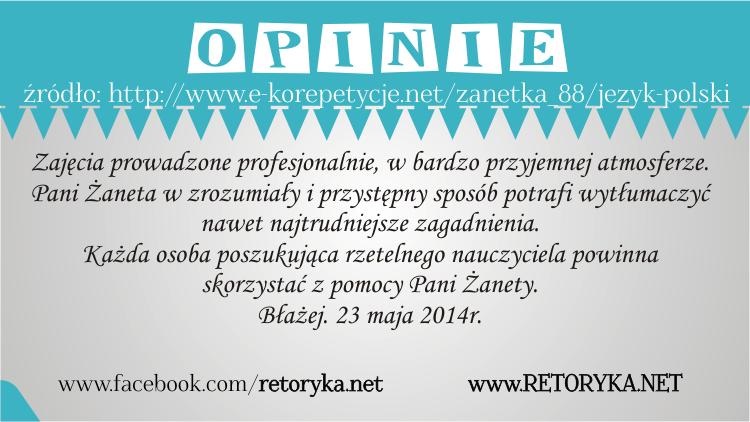 Opinie o korepetycjach z języka polskiego, opinie korepetycje polski, RETORYKA