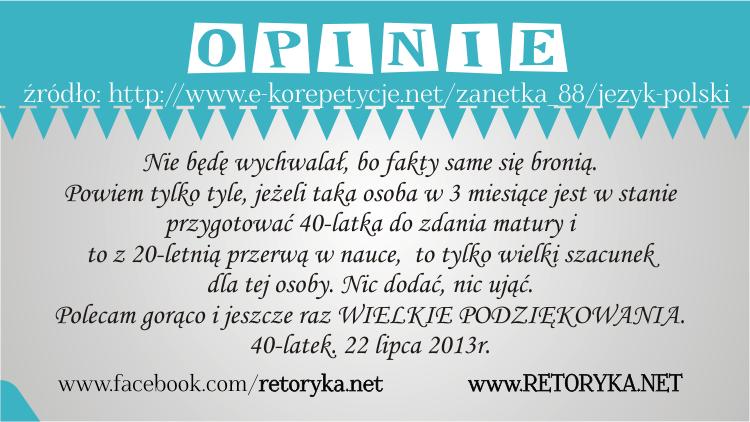 Opinie o korepetycjach z języka polskiego, opinie korepetycje polski Żaneta